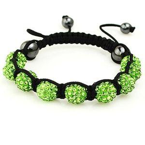 Green Sparkle Shamballa Bracelet